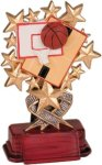 Basketball - Starburst Resin Trophy Basketball Trophy Awards