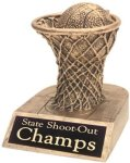 Basketball - Gold Resin Trophy Gold Resin Trophies