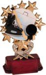 Hockey - Starburst Resin Trophy Hockey Trophy Awards