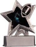 Football - Silver Star Motion Series Resin Silver Star Motion Resin Trophies