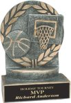 Basketball - Wreath Resin Trophy Wreath Awards